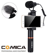 Comica Smartphone Video Kit CVM-VM10-K3 Filmmaker Handle Grip with  Video Microphone Video Rig for iPhone X 8Plus 8 7Plus