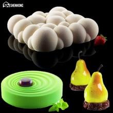 SHENHONG 3 STÜCKE Silikon 3D Kuchenform Birne Wolke Welligkeit DIY Mousse Form Cookie Muffin Moule Backenwerkzeuge