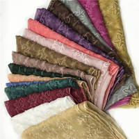 Wholesale Lace floral hijab scarf Muslim Women's wraps beads Long shawls fashion headband islamic scarves 180x85cm 10pcs/lot