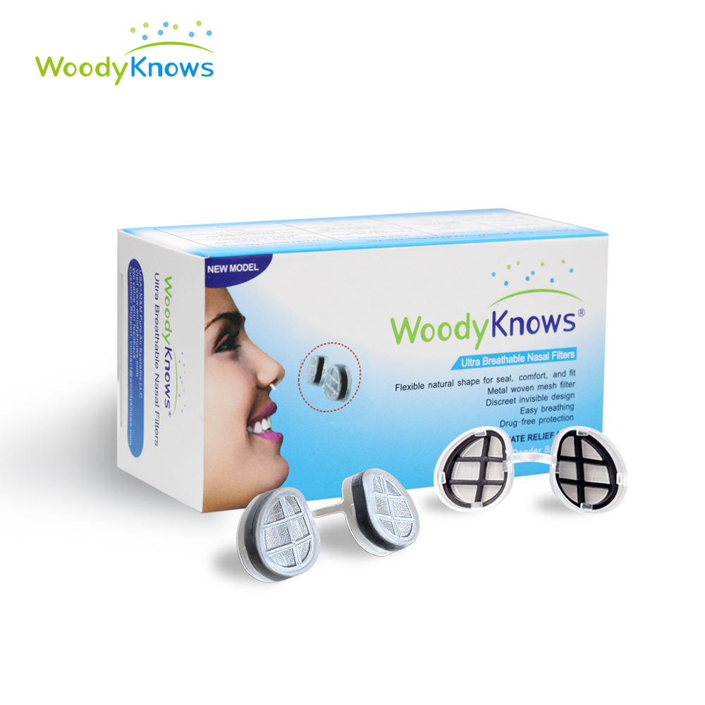 Ultra Breathable Nasal Filters Nose Masks, Anti Pollen Allergies Dust Pet Dander Allergy Hayfever Relief Mold (2nd Gen) woodyknows super defense nasal filters 2nd generation nose masks pollen allergies dust allergy relief no pm2 5 air pollution