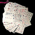 Mileegirl 50sheets Watermark Nail Stickers,Mix Designs Random Water Transfer Nail Stickers,Water Decals DIY Decoration For Nail