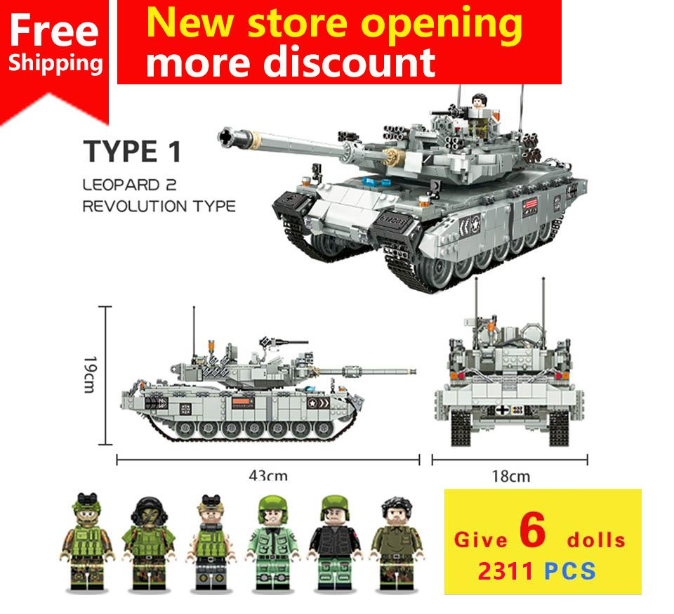 2311pcs World Of Tank Building Blocks Bricks Military Army Constructor Set Educational Toys For Children Toy Car Legoing ww2hero mylb large panzer iv tank 1193pcs building blocks military army constructor set educational toys for children dropshipping