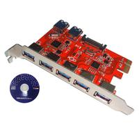 Desktop Computer PCI E to 5+2 USB 3.0 Hub PCI Express Expansion Card Adapter Good quality
