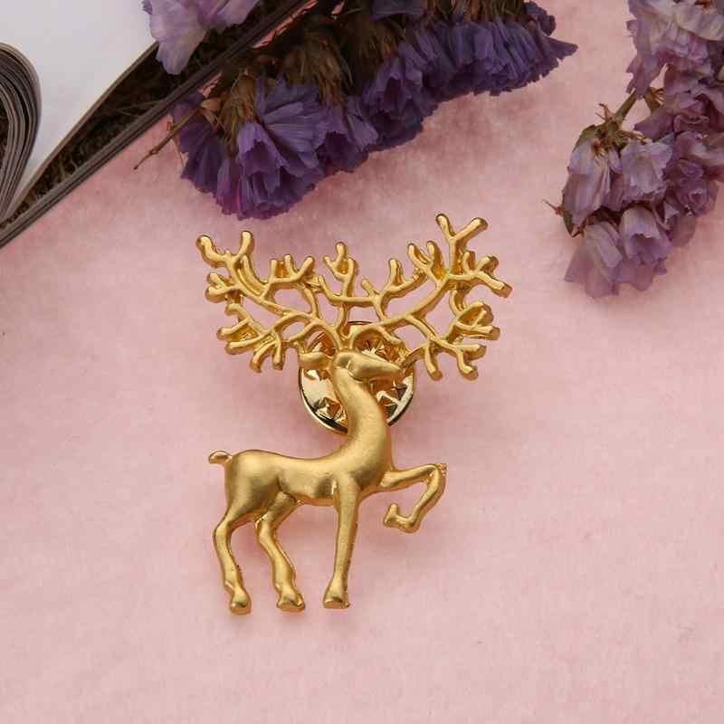 2019 Vintage Gold Silver Metal Elk เข็มกลัด Pin Lucky สัตว์เสื้อผ้าแฟชั่นผู้ชายผู้หญิงเครื่องประดับอุปกรณ์เสริมของขวัญใหม่
