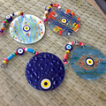 Olho do mal Charme de Vidro parede de Mosaico de Vidro decoração turquia evil eye nazar Amuleto pendurado ornamento Artesanal de vidro murano itália