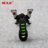 High Quality 2 Color 304 Stainless Steel Flat Rubber Band Slingshot for Outdoor Game Hunting Shooting