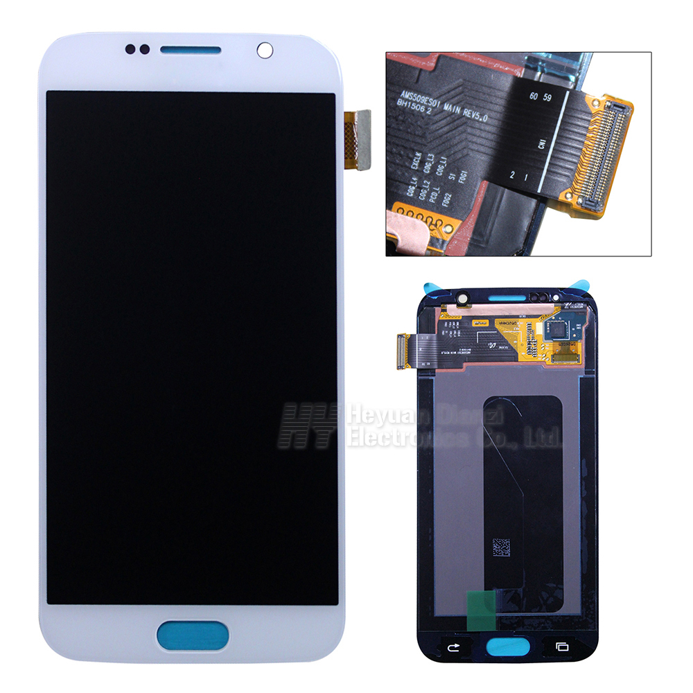 Wholesale 100% Original For Samsung galaxy S6 lcd display touch screen digitizer G920i G920P G920f G920V G920A freeshipping