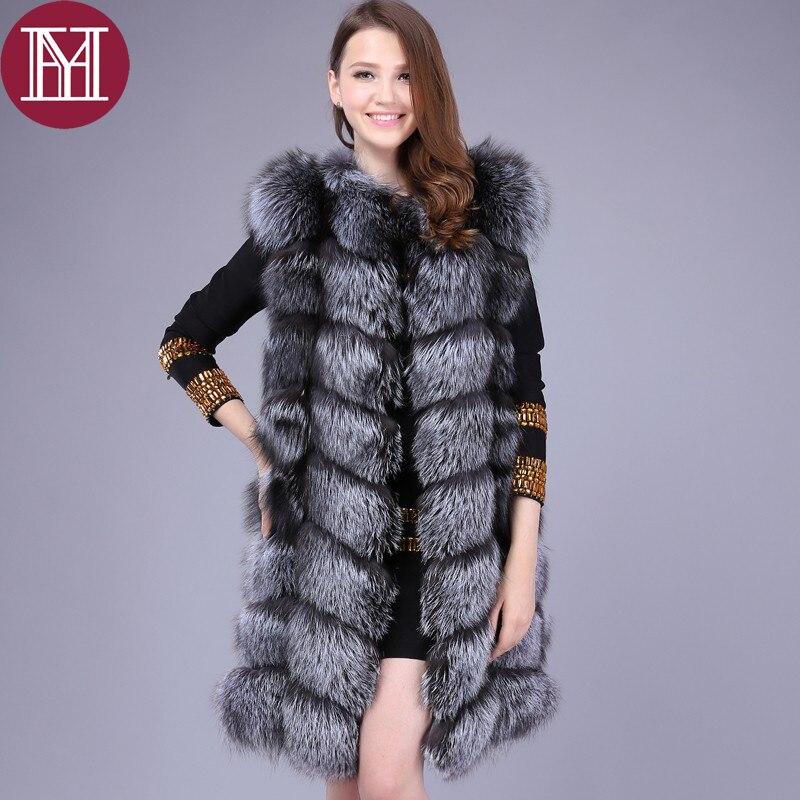 New Leather Natural Fur Coat Fox Vest Short Fur Jacket