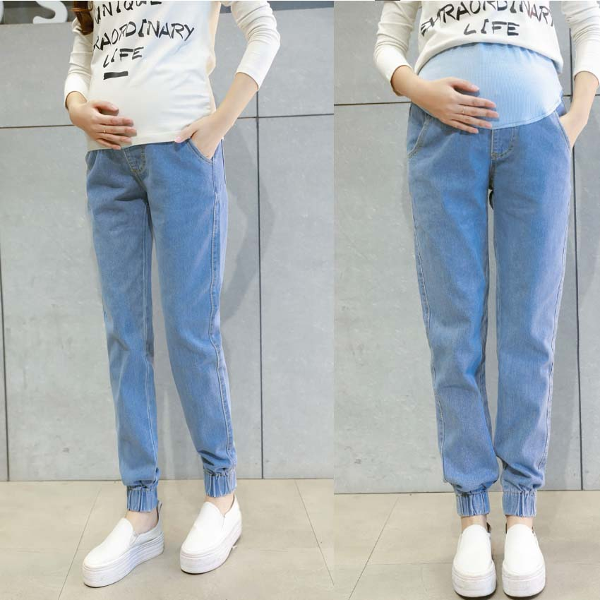 Jeans Maternity Clothing Pants For Pregnant Women Clothes Nursing Trousers Pregnancy Overalls Denim Long Prop Belly Legging New new men s denim overalls men slim fit cotton casual jeans jumpsuits for men long sleeves zipper patch trousers clothing
