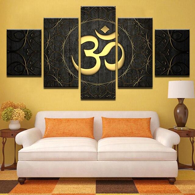 Canvas Wall Art Home Decor Para Sala De Estar Moderna HD Imprime Cartaz 5  Peça Pintura