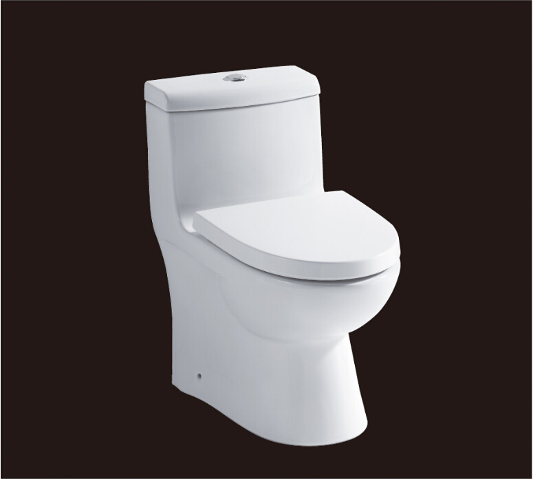 2016 hot sales water closet one-piece toilet S-trap toilets with PVC adaptor PP soft close seat AST361 UPC certificate