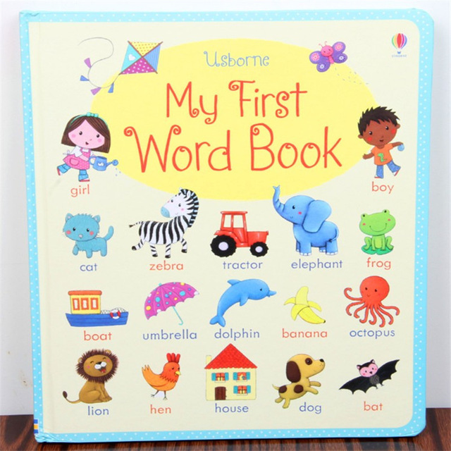English picture book :new board books --My first word book , English dictionary for baby and kids early education