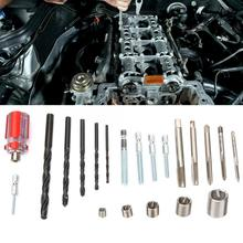 116Pcs Stainless Steel Wire Thread Insert Coiled Screw Sleeve Repair Kit Fasteners Helical Tool