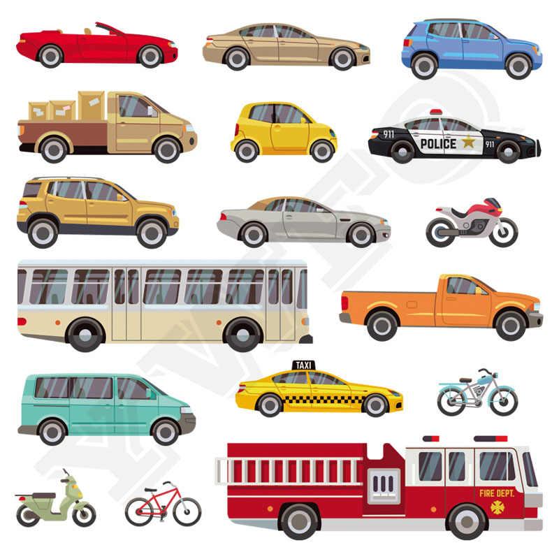 17 шт./компл. крутые пожарные машины железные аппликации популярный детский подарок DIY стираемые наклейки теплопередачи несколько Заплатки с машинками