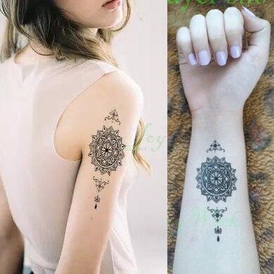 Wodoodporna Tymczasowa Tatuaż Mandala Klasyczna Totem Dla Dziewczyny