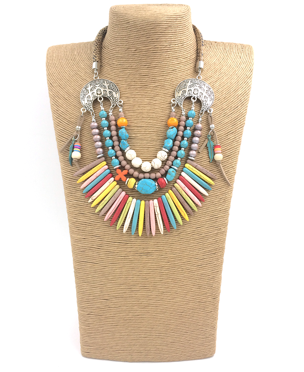 LIESKGON Big Acrylic Bead Personalized Necklace Women Bohemian Chain Choker Necklaces /& Pendants