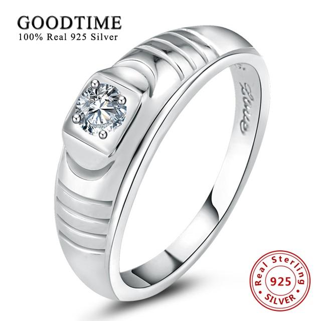 db0164591065 Plata 925 joyas de plata esterlina anillo de la joyería para hombre al por  mayor zirconia