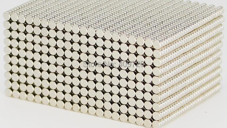 500 шт. небольшой круглый неодимовый магнит Дисковые магниты диаметром 2 мм x 1 мм N35 Супер мощный сильный редкоземельный неодимовый магнит