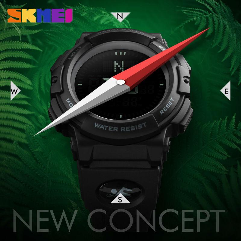SKMEI Relogio Masculino Military Watch Men Top Brand Luxury Compass Watch LED Digital Sports Wristwatch Army Watches Male Clock все цены