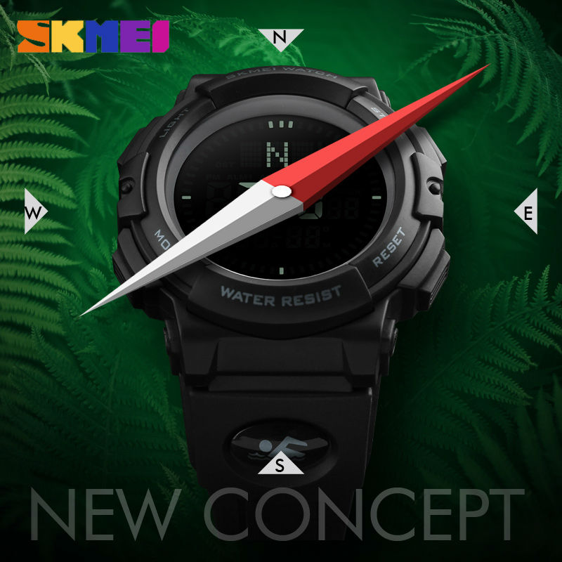 SKMEI Relogio Masculino Military Watch Men Top Brand Luxury Compass Watch LED