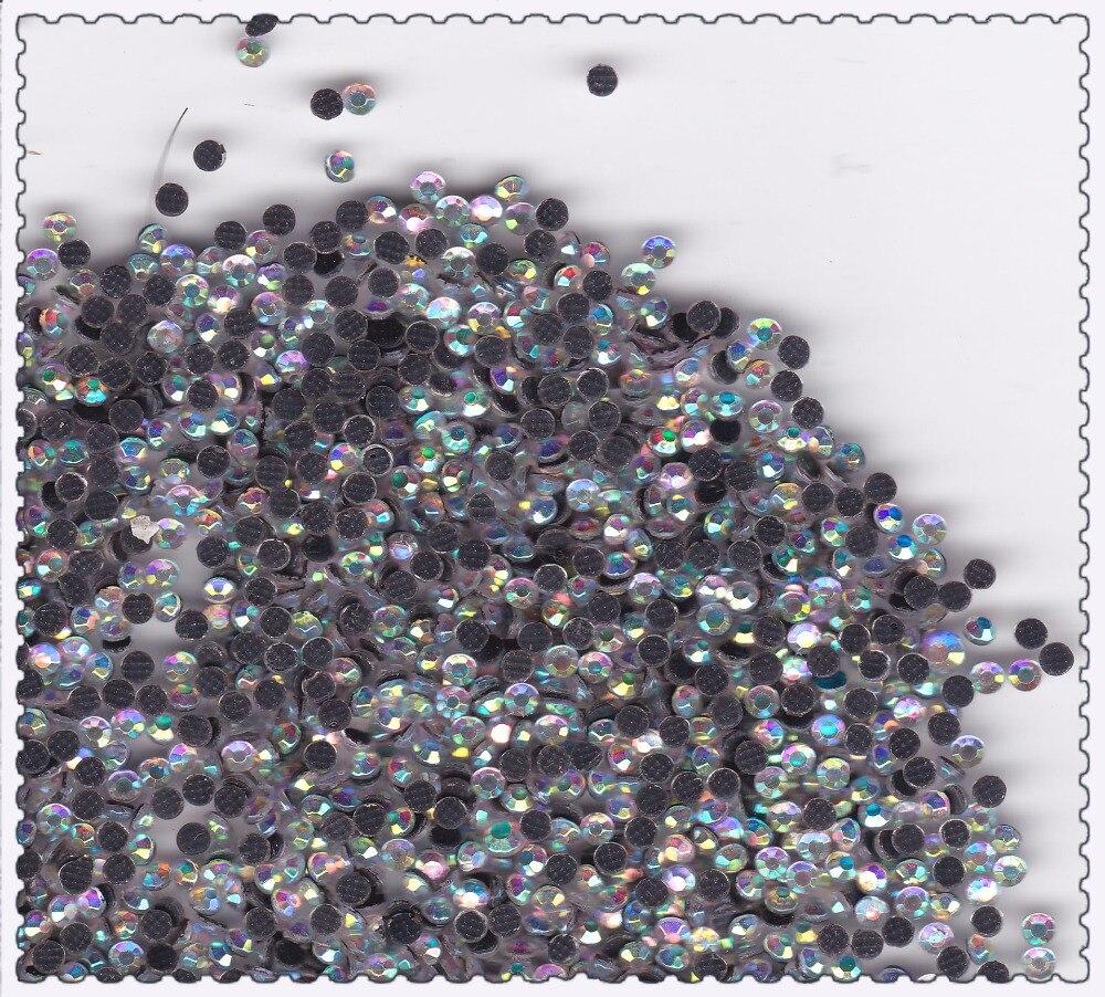1000pcs Flat Back Rhinestone 3D Nail Decoration AB Clear Crystal Rhinestones 2mm size Manicure Nail Art Decoration