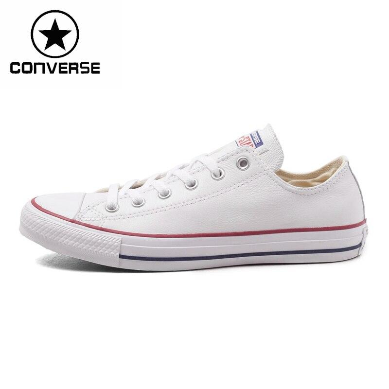 Prix pour Original Nouvelle Arrivée Converse all star Unisexe Planche À Roulettes Chaussures en cuir Sneakers