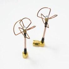 5,8 ГГц FPV Прямая Форма L-образная внутренняя игла/внутреннее отверстие Cloverleaf 5,8 ГГц комплект антенн для радиоуправляемого вертолета высокое ...