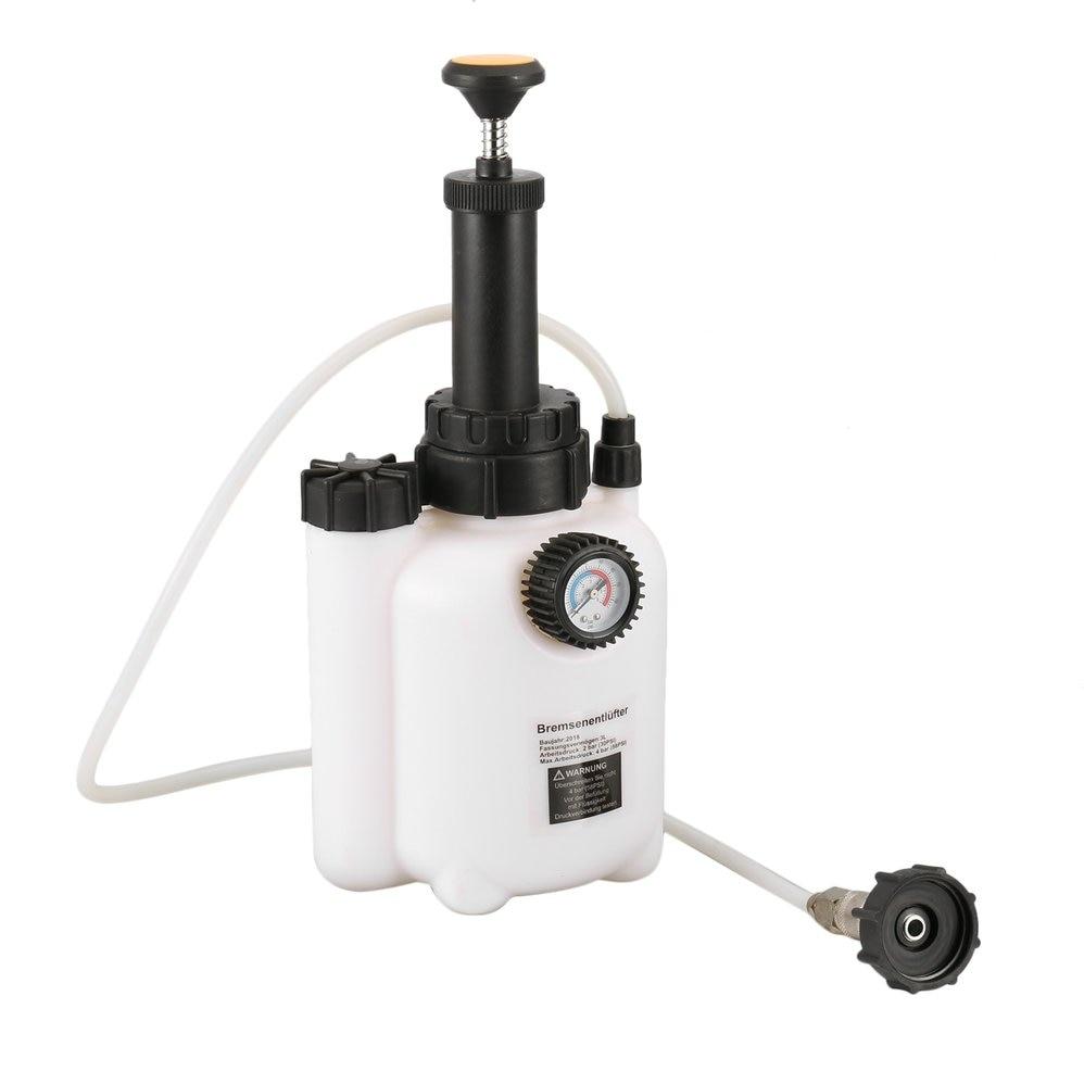 Single Pot Air Brake Bleeder Fluid Change Kit Car Auto Air Powered Pneumatic Brake Vacuum Tool Vehicles Equipment