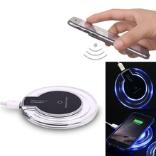 Free shipping LED Qi Wireless Charger pad For iPhone Samsung Galaxy S6 S7 S3 S4 Note2 Nexus Wireless charging Transmitter Pad