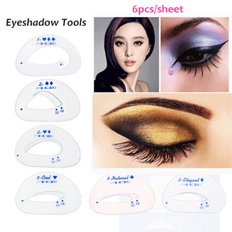 1 Pack Makeup Eye stencils Cat Eye stencil Template Eyeshadow Tools Useful Eye shadow Cosmetics Make up Accessories Kit