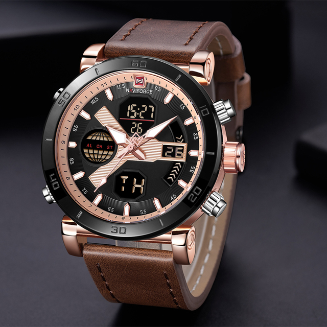 2018 New NAVIFORCE Luxury Brand Men Analog Digital Sports Watches Men's Army Military Watch Man Quartz Clock Relogio Masculino