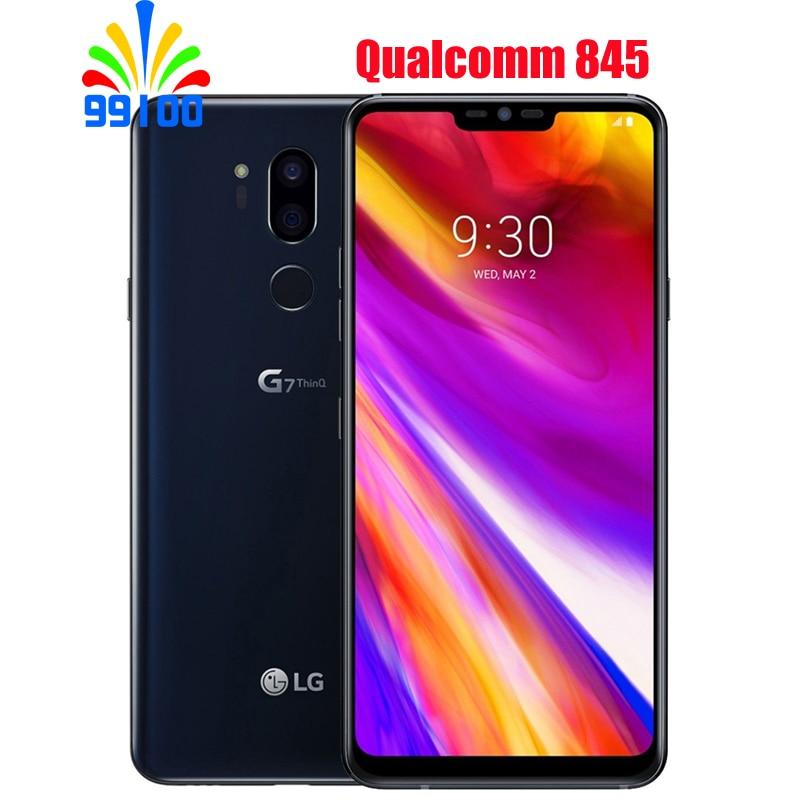 Разблокированный мобильный телефон LG G7 ThinQ G710V/N/U 6,1 дюйма 4 Гб+ 64 Гб/6G+ 128 Гб Snapdragon845 двойная задняя камера LTE отпечаток пальца