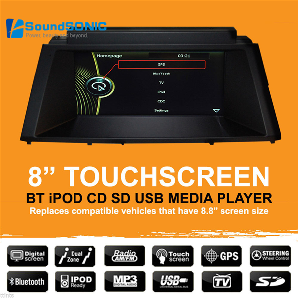 For <font><b>BMW</b></font> <font><b>X5</b></font> <font><b>E70</b></font> X6 E71 E72 2007 - 2015 8'' Touch Screen Car Stereo Radio DVD GPS Navigation Sat Navi Media Multimedia System image