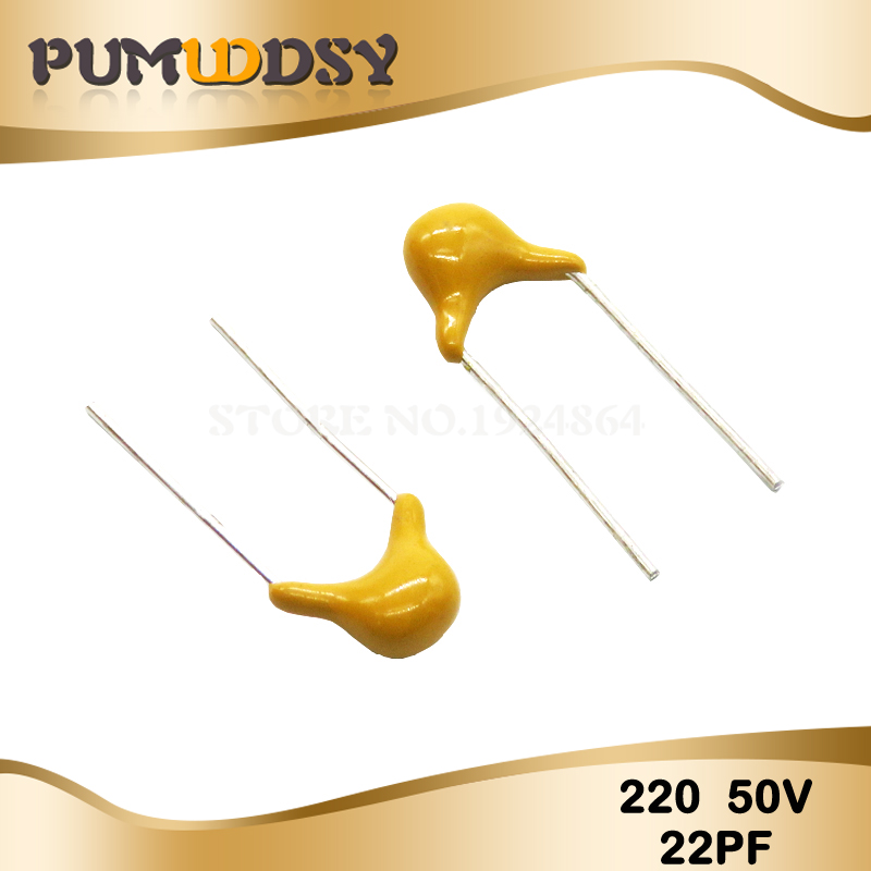 100PCS 22PF 5% 5.08MM 220 50V 22P MLCC Multilayer Monolithic Ceramic Capacitor 0805