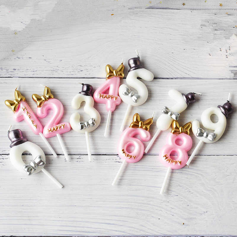 Cute birthday number candle princess/ prince  0-9 Number decorative candles Cake Cupcake Topper Party Supplies cake decorating