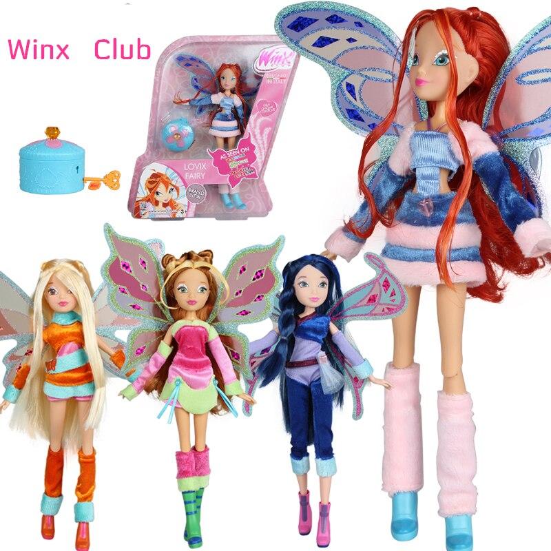 Believix Fée et Lovix Fée Winx Club Poupée arc-en-coloré fille Figurines Fée Floraison Poupées avec Classique Jouets Pour fille Cadeau