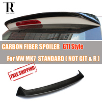 MK7 Golf 7 Standard Car Carbon Fiber Rear Roof Wing Spoiler GT Style 2014 2017