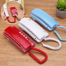 Красное настенное крепление проводной телефон повторный набор анти-помех бизнес домашний офис Настольный телефон 17,5*8,5*6 см