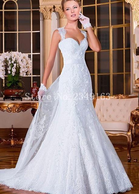 encaje de boda del tren desmontable vestido de novia vestido de