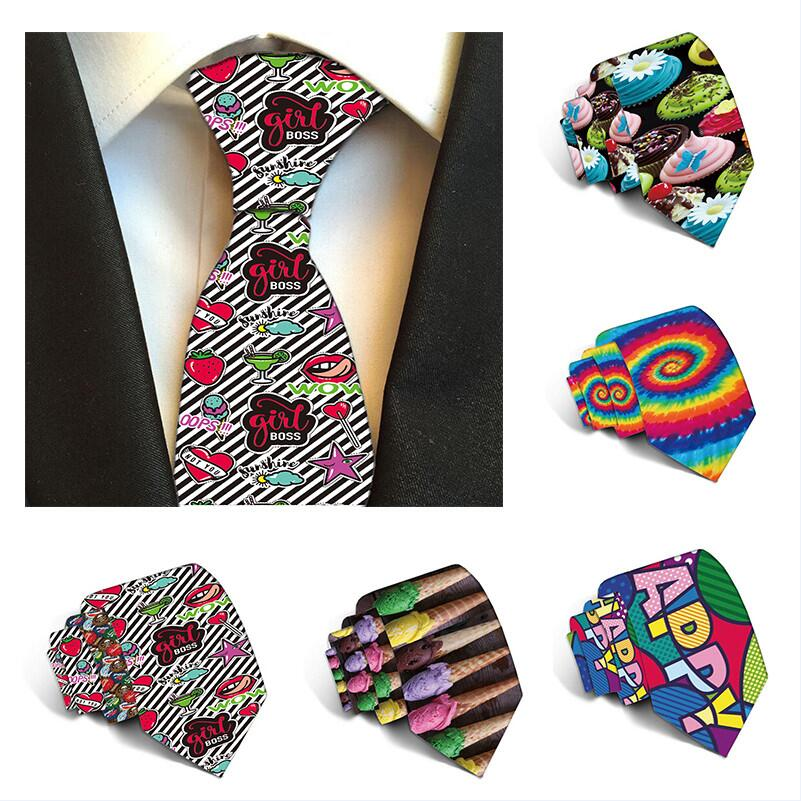 Fashion Ties for Men Polyester 8cm Tie Casual Skinny Cravat Neckties Party wedding accessories Mens Printed Neck Ties 5S-LD07