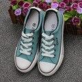 2017 Женщины Моды Холст Обувь все, босоножки, Шлепанцы star Низкий Топ Конфеты цвета Дышащие суперзвезда туфли Size35-40 130