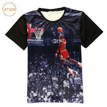 4030f61bc5b ISTider Fashion 3D Clothing Digital Printing Star Michael Jordan T Shirt HD Jordan  Dunk Pattern T