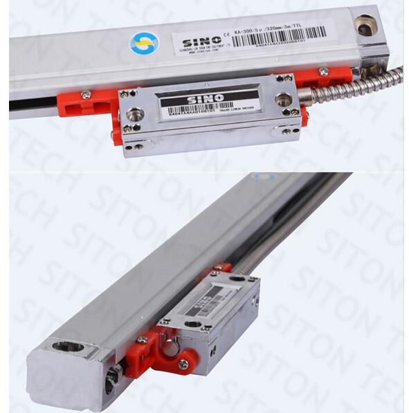 Free shipping high precision lathe 5 micron Sino KA300 620mm optical scale milling machine Sino KA-300 620mm linear scale