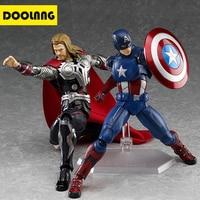 DOOLNNG 16cm Captain America Thor Superhero Avengers Action Figure Toy PVC Desktop Decorative Model Toys For