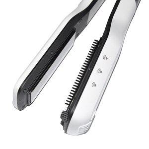 Image 5 - CLRLIFE Steampod שיער מחליק מברשת טיטניום קרמיקה ברזל שטוח מקצועי חשמלי מסרק קיטור שיער מיישר ברזל
