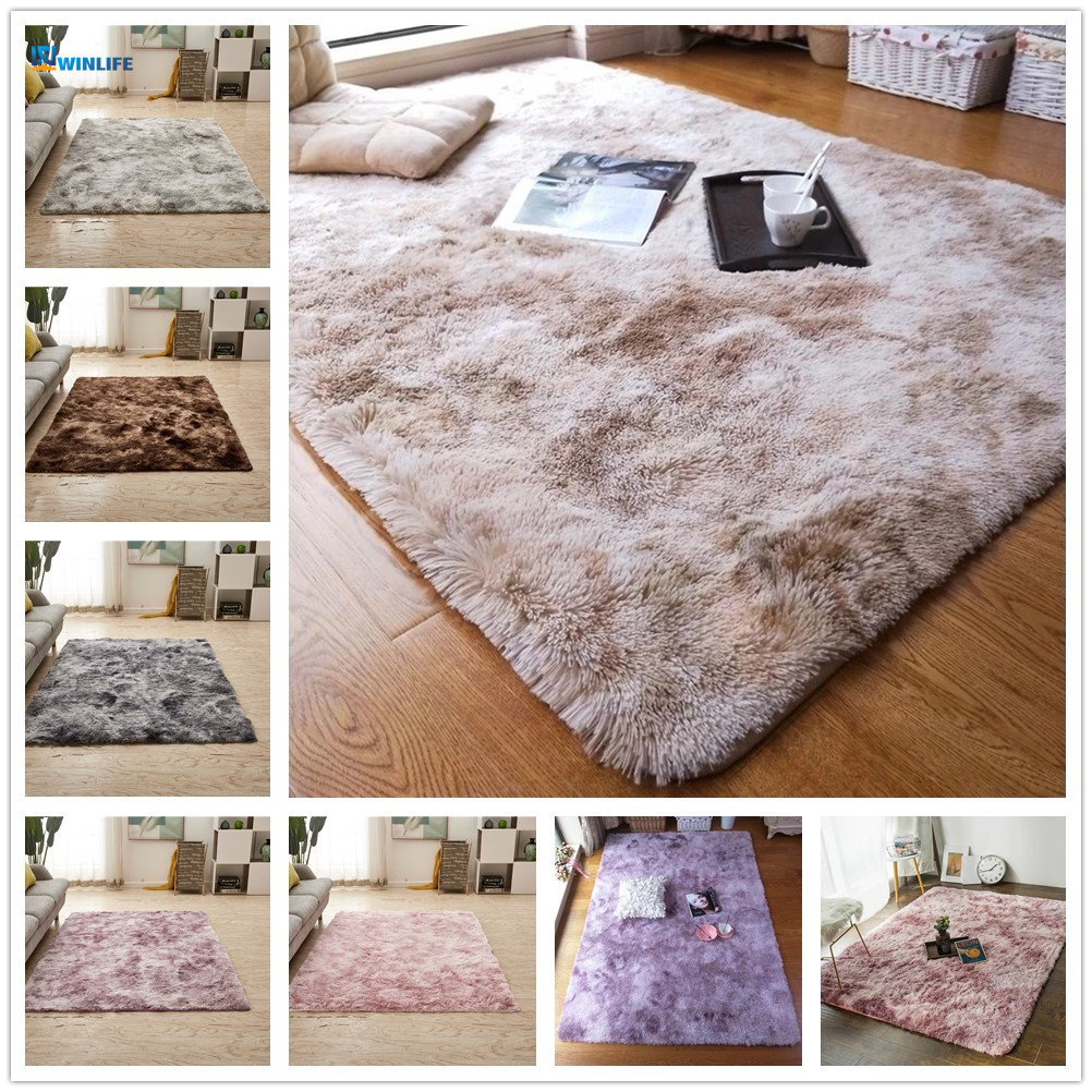 Nordic Solid Pile Plush Carpet Rugs For Living Room Large Size Anti-Slip Bedroom/Study/corridor Soft Carpets Child Bedroom Mat