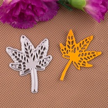 DIY Maple Leaf  Design Cutting Dies Stencils Embossing Card for Scrapbooking Album Decorative Metal Crafts.