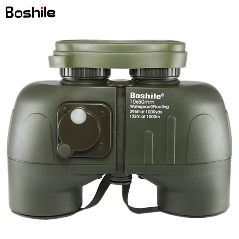 Boshile Powerful Binoculars 10X50 with Compas Professional Military Telescope Waterproof Large Eyepiece binocular High Quality