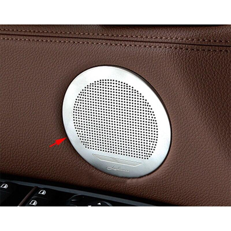 4x Steel Door Audio Speaker Panel Cover Trim For BMW X5 E70 07-13 /& X6 E71 08-14