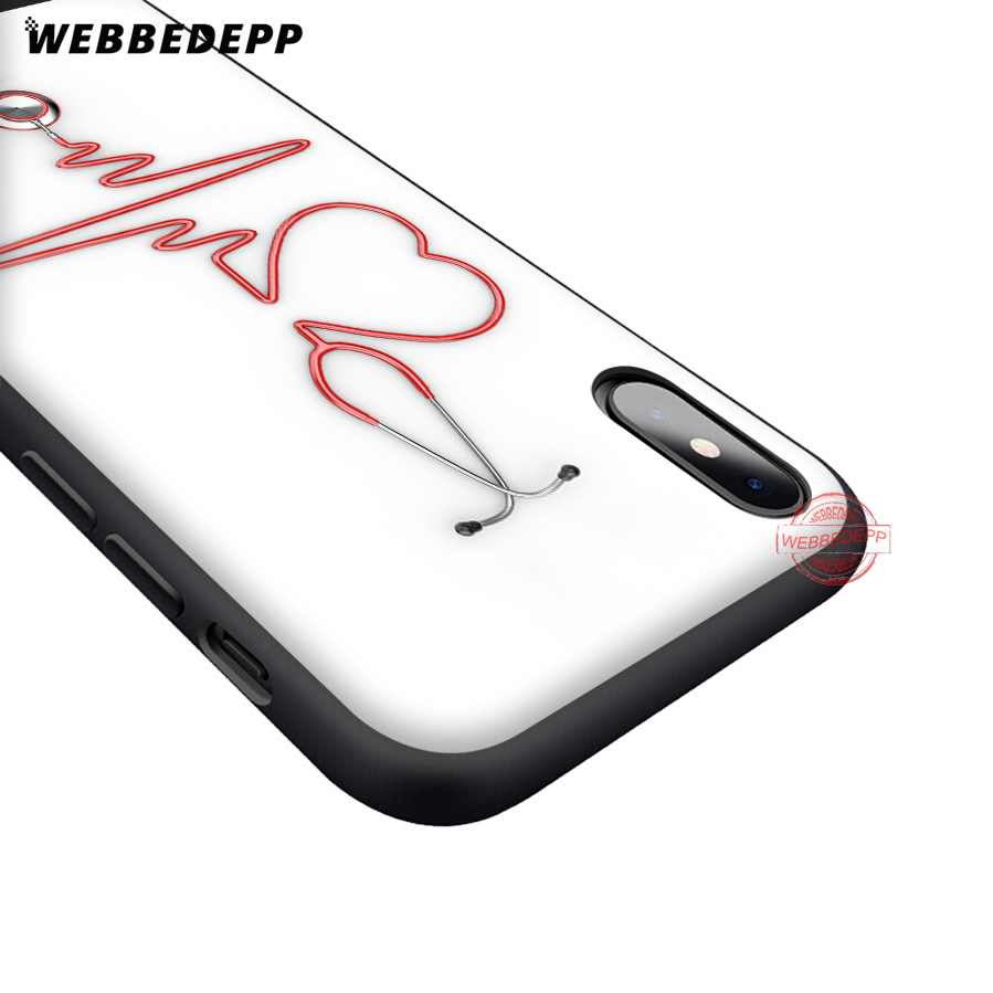 WEBBEDEPP Doctor Medical Devices Stethoscope Soft Silicone TPU Phone Case for iPhone 5 5S SE 6 6S 7 8 Plus XR X XS Max in Fitted Cases from Cellphones Telecommunications